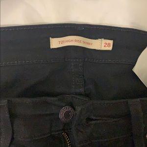Levi's high rise 721 black jeans